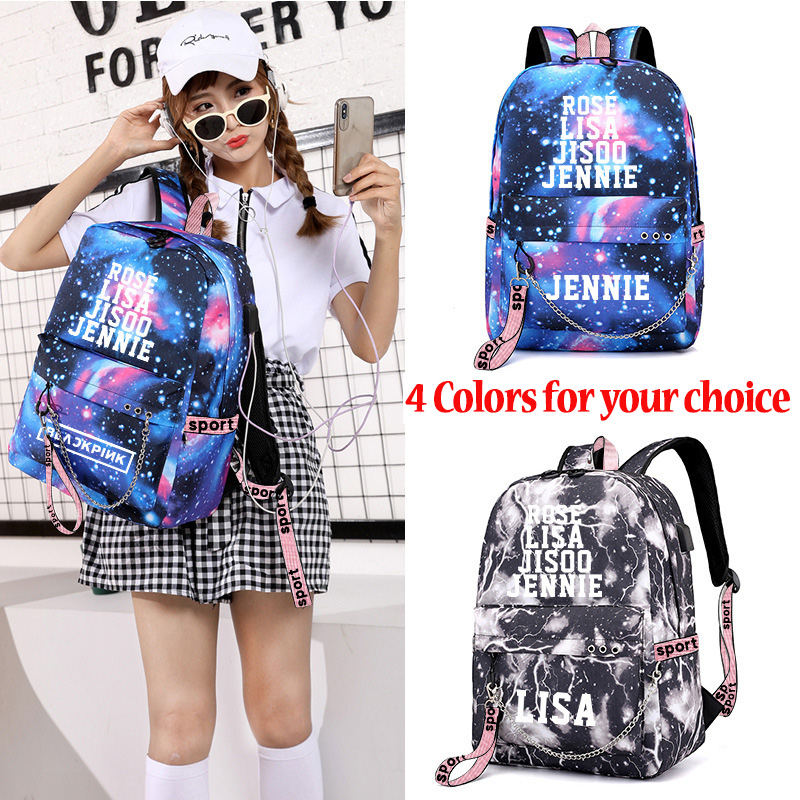 USB BlackPink Kill This Love JENNIEN LISA ROSE JISOO Summer Diary In Hawaii Backpack Travel Bag School Bag Unisex Bag LJJ718