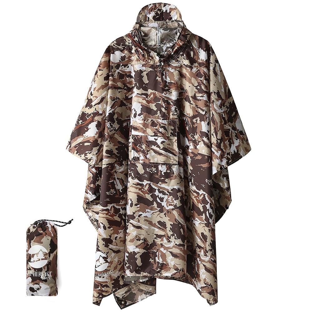 Hooded Rain Poncho Waterproof Raincoat Jacket for Men Women SAPHIROSE