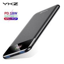 YKZ 10000mAh güç bankası 18W PD hızlı şarj QC 3.0 güç banka taşınabilir şarj evrensel cep telefonu harici pil xiaomi için