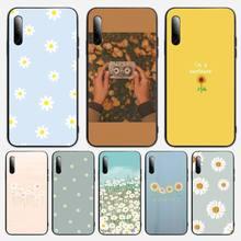 Cute Summer Daisy Sunflower Floral Flower Phone Case For Samsung S note S10E 6 7 8 9 10 20 plus edge lite Cover Fundas Coque