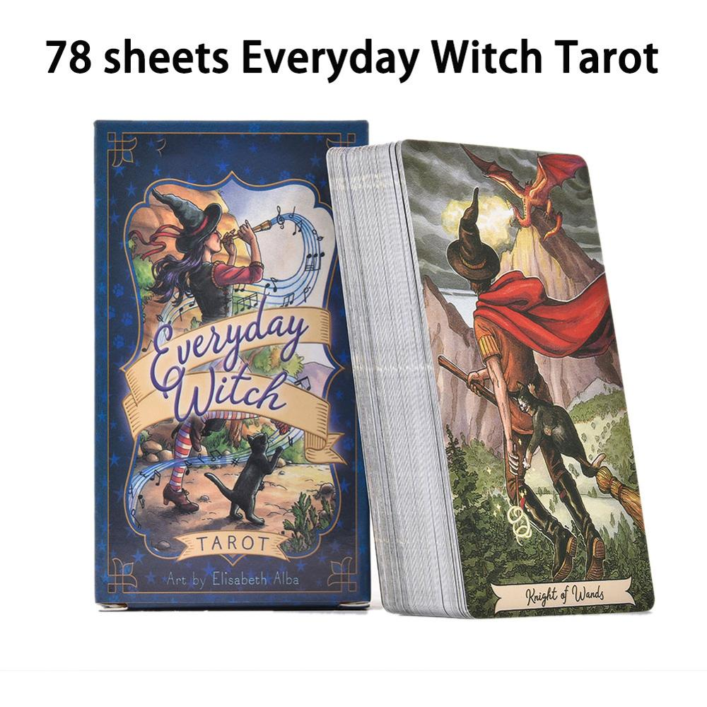 78PC Everyday Witch Tarot Card English Board Game Playing Card Guidance Divination Fate Tarot Deck Cards For Party Entertainment