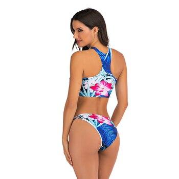 Sexy Bikinis Swimsuit High Waist bikini 2020 Bathing Suit Women Plus Size Swimwear Push Up Bikini Set Vintage Beach Wear Biquini 5