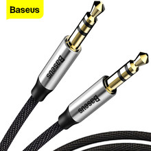 BASEUS 3.5 Mm Jack Kabel Audio Jack 3.5 Mm MALE To Male Audio AUX Kabel untuk Samsung S10 Mobil Headphone speaker Line Kabel Aux(China)