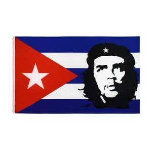 Yehoy 90x150cm freedom fighter hero EI CHE Ernesto Guevara with cuba Flag(China)