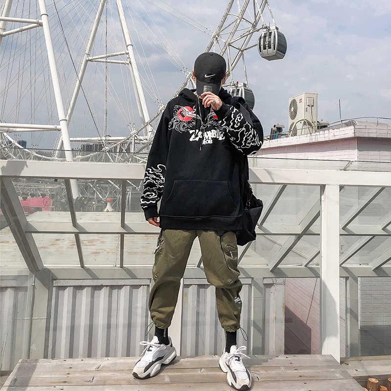 HISTREX Bestickt Japanischen Kran 100 Baumwolle Männer Hoodies Oberbekleidung Hip Hop Hoody Mode Jacke Marke Mit Kapuze Herren Mens Hoodies