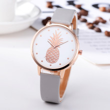 FanTeeDa, новинка, Ананасовый Узор, циферблат, наручные часы для девушек, кожаный сплав, аналоговые женские кварцевые часы, браслет, relogio 30Q