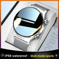 Nuevo E1-3 IP68 impermeable reloj inteligente de las mujeres de los hombres completamente táctil Pantalla de cara Multi-modo moda deportiva SmartWatch para Android IOS