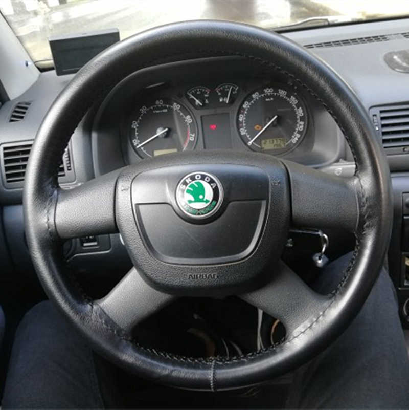 38cm Car Steering Wheel Cover for Skoda Rapid kodiaq Octavia Superb Roomster Fabia Yeti Citigo Auto Wheel Covers