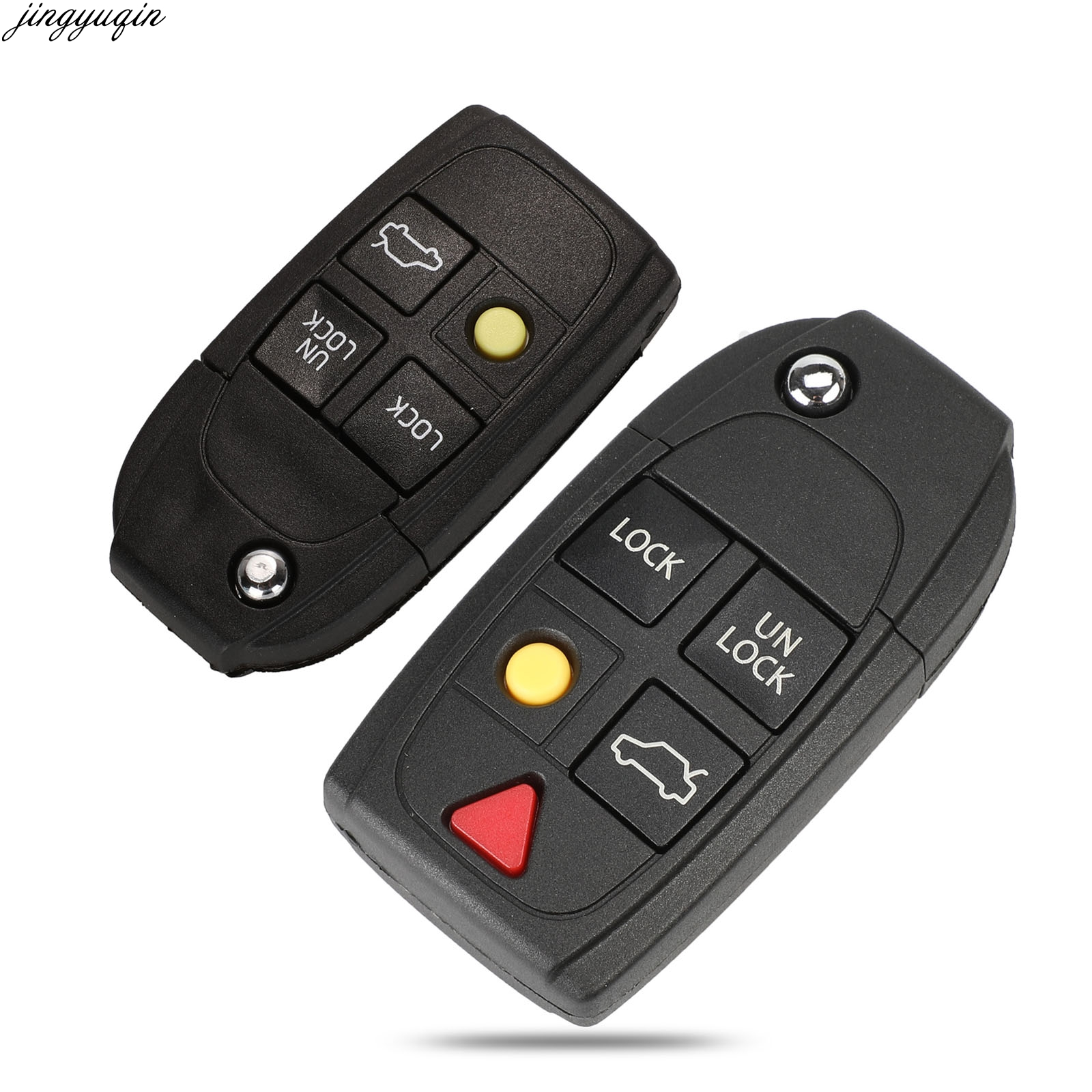 jingyuqin 4/5 Buttons Modified Flip Remote Car <font><b>Key</b></font> Shell For <font><b>Volvo</b></font> XC70 XC90 V50 V70 <font><b>S40</b></font> V40 V90 C70 S60 S80 S70 image