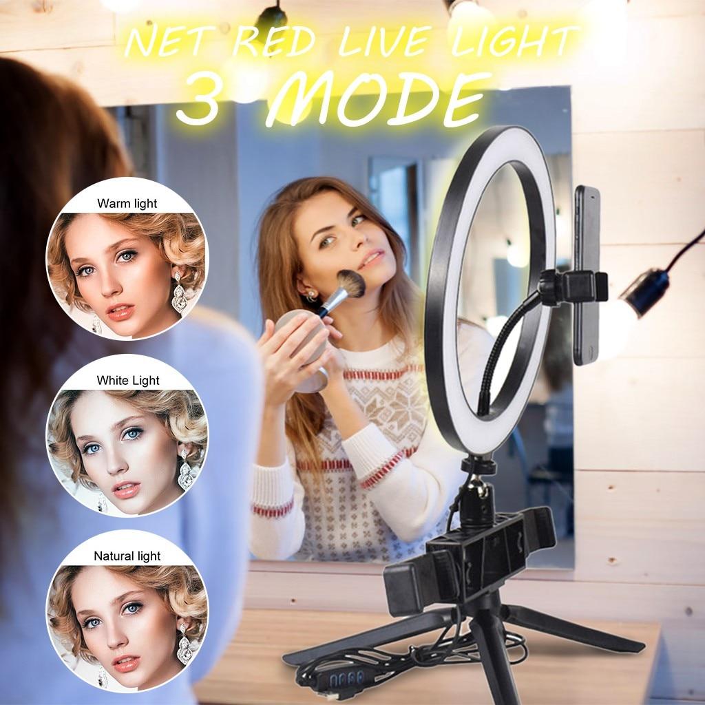 Ring Light 20Cm With Tripod Mobile Phone Holder USB3 Mode LED Live Light