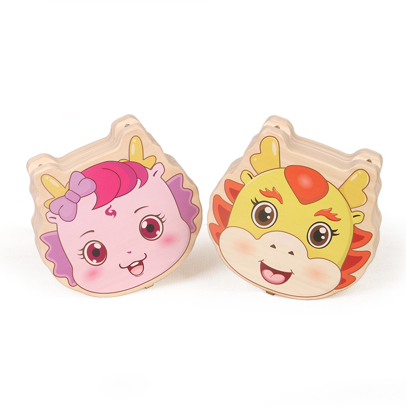 Color printing male and female teeth collection box fetal umbilical cord collection baby teeth memorial box baby teeth box