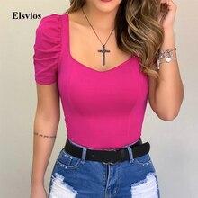 Summer Pleated Short Sleeve Blouse Spring Women Slim Fit Shirt