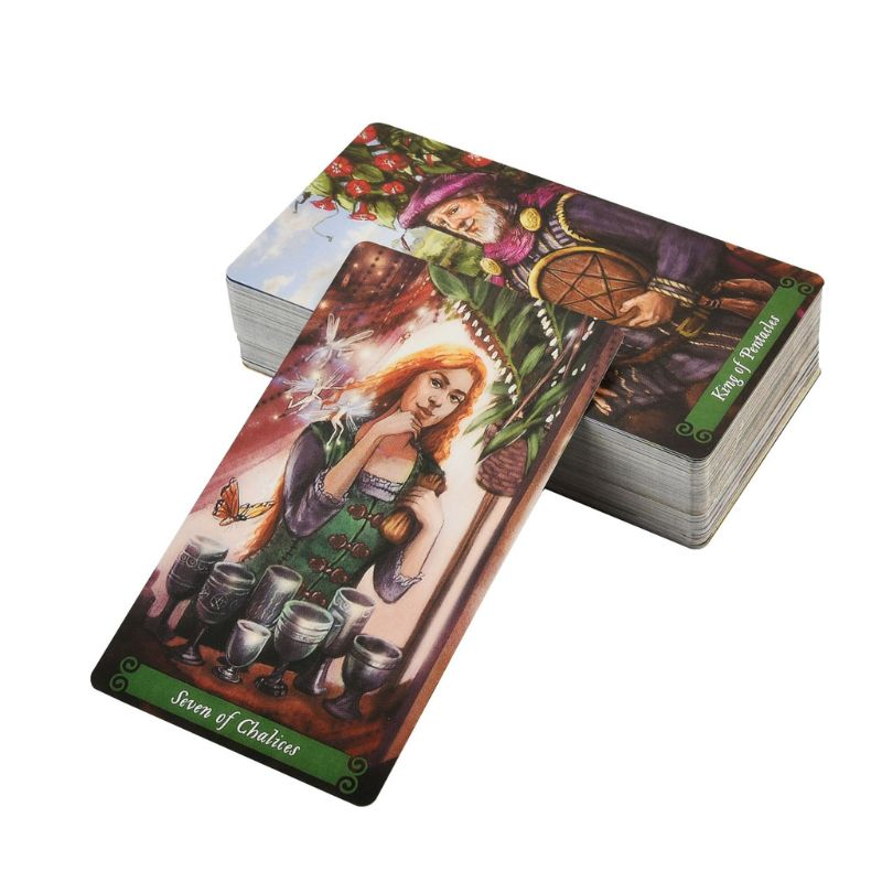78pcs The Green Witch Tarot Cards Deck Green Witchcraft Series (8) Family Party Board Game Oracle Playing Card
