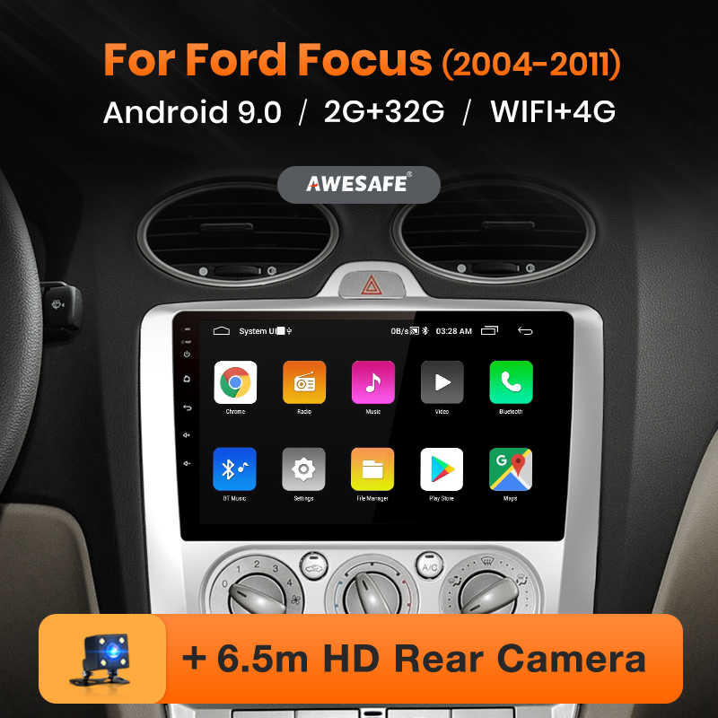 AWESAFE PX9 para Ford Focus 2 3 Mk2 / Mk3 2004-2011 auto Radio Multimedia reproductor de video GPS No 2 din Android 9,0 2GB + 32GB