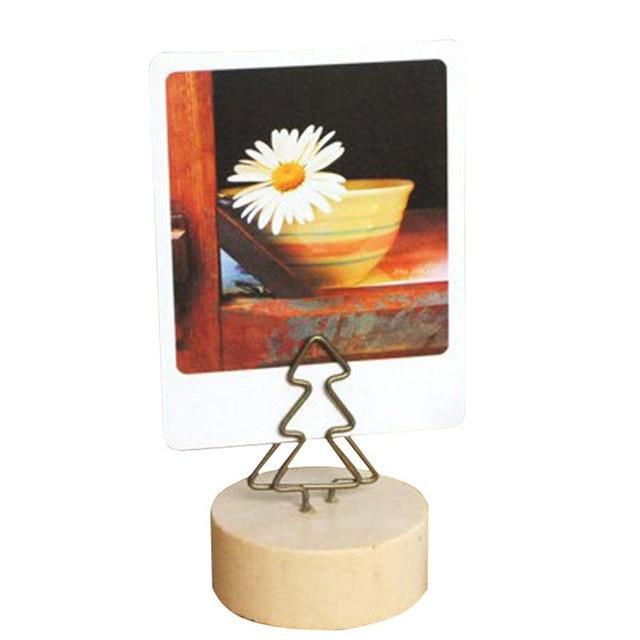 Fashion Creative Table Standing Wooden Shelving Cartoon Photo Folder Shelf High Quality Postcard Decoration Shelf Pastoral Style 3