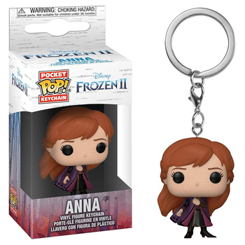 FUNKO POP Keychain Frozen Toy Story Elsa Anna Olaf Stitch Forky Decoration Models Pendant Chain Ring Figure Toys for Kids Gifts 5