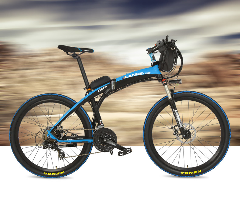 Lankeleisi 189.47 electric bicycle, folding bicycle, 26 inches, 36/48 V, 240 W, disk brake, fast folding, mountain 24