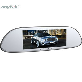 7'' Car Rear View Camera LED Night Vision Driving Recorder Reversing Large View Dasg Camera Rearview Mirror Monitor Dashcam T80