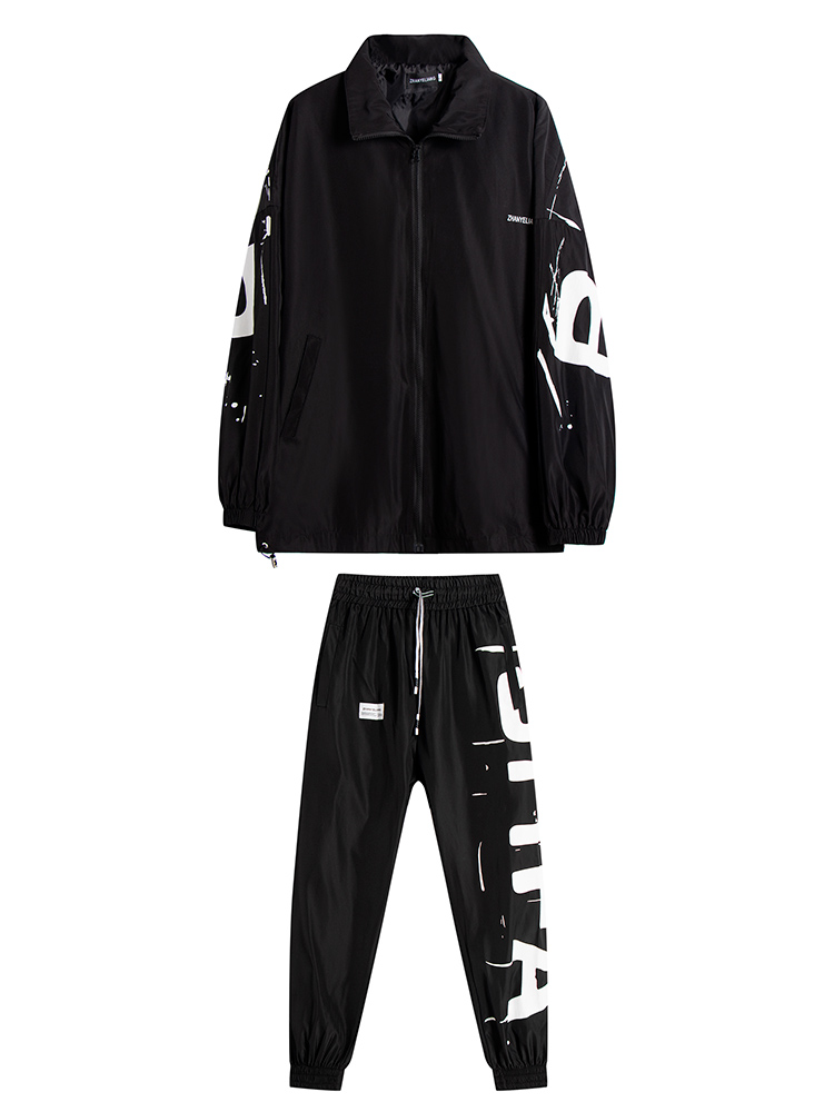 2-piece Set Men's New Spring Autumn Suit Fashion Mens Two Piece Sweat Suits Casual Joging Men Tracksuit Hip Hop Pockets HH50TZ