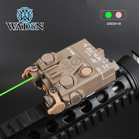 WADSN Airsoft PEQ Mini DBAL-A2 Green IR Aiming Laser with White Light PEQ15 dbal a2 Hunting Weapon Tatical Strobe Light