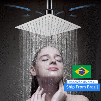 Round Or Square Stainless Steel Shower Head Water Saving Filter Spray Nozzle Rainfall Shower Faucet For Bathroom ultrathin shower head stainless steel 304 bathing rainfall shower head round square wall mount showerhead bathroom accessories