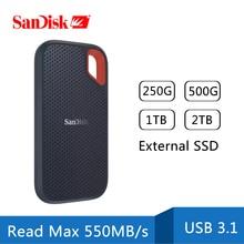 SanDisk 2 ТБ Type-c портативный SSD 1 ТБ 500 Гб 550 м внешний жесткий диск USB 3,1 HD SSD жесткий диск 250 ГБ твердотельный диск для ноутбука