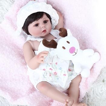 NPK Doll 48CM very soft flexible full body silicone reborn cuddly baby doll alive bebe reborn toddler doll toys gift