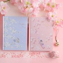 """""""Kiraz çiçeği"""" sert kapak günlüğü güzel sanat çizimleri dizüstü dergisi not defteri ücretsiz not kırtasiye hediye"""