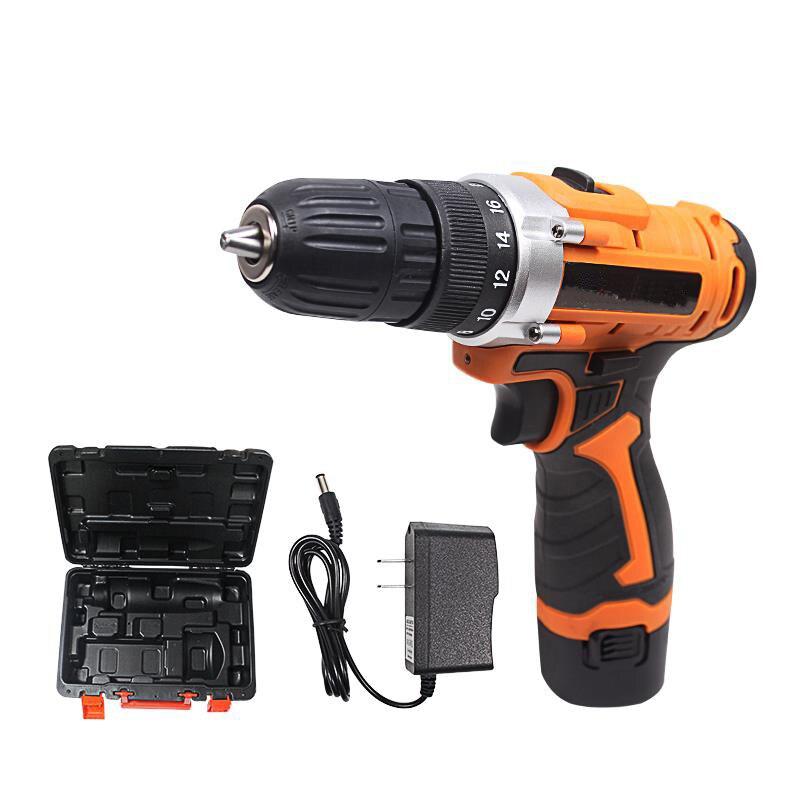 Перезаряжаемые бытовые многофункциональные электрические отвертки 12V литиевая электродрель Пистолетная дрель комплект для