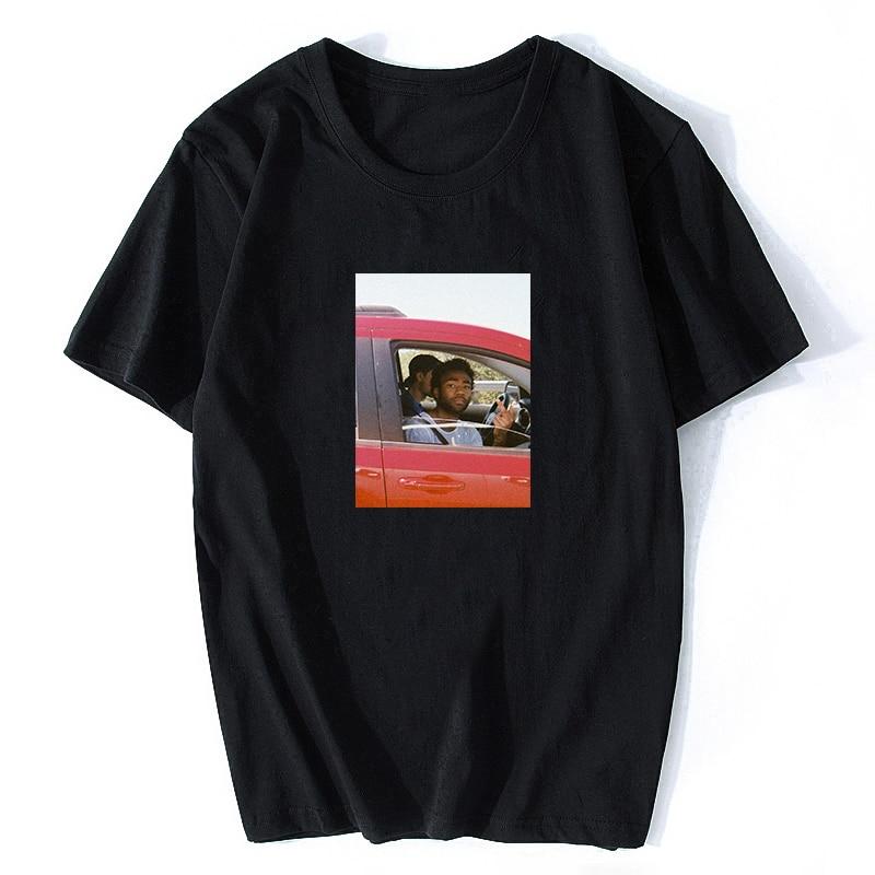 Childish Gambino Rapper T Shirt Men Print Short Sleeve Hip Hop Cotton T Shirts Summer Casual Music Tee Shirt Aesthetic Clothes