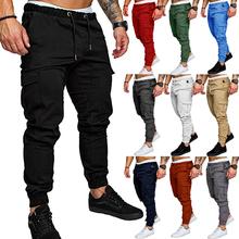 Hot Sale 2020 Top Quality New Brand Mens Print Beam Foot Pants Active Joggers Pencil Pants Men Hip Hop Sweatpants M to 4XL Size cheap Wenkasion CN(Origin) Flat Cotton Polyester Pockets skinny Men Sport Casual Pants Midweight Broadcloth Full Length Drawstring
