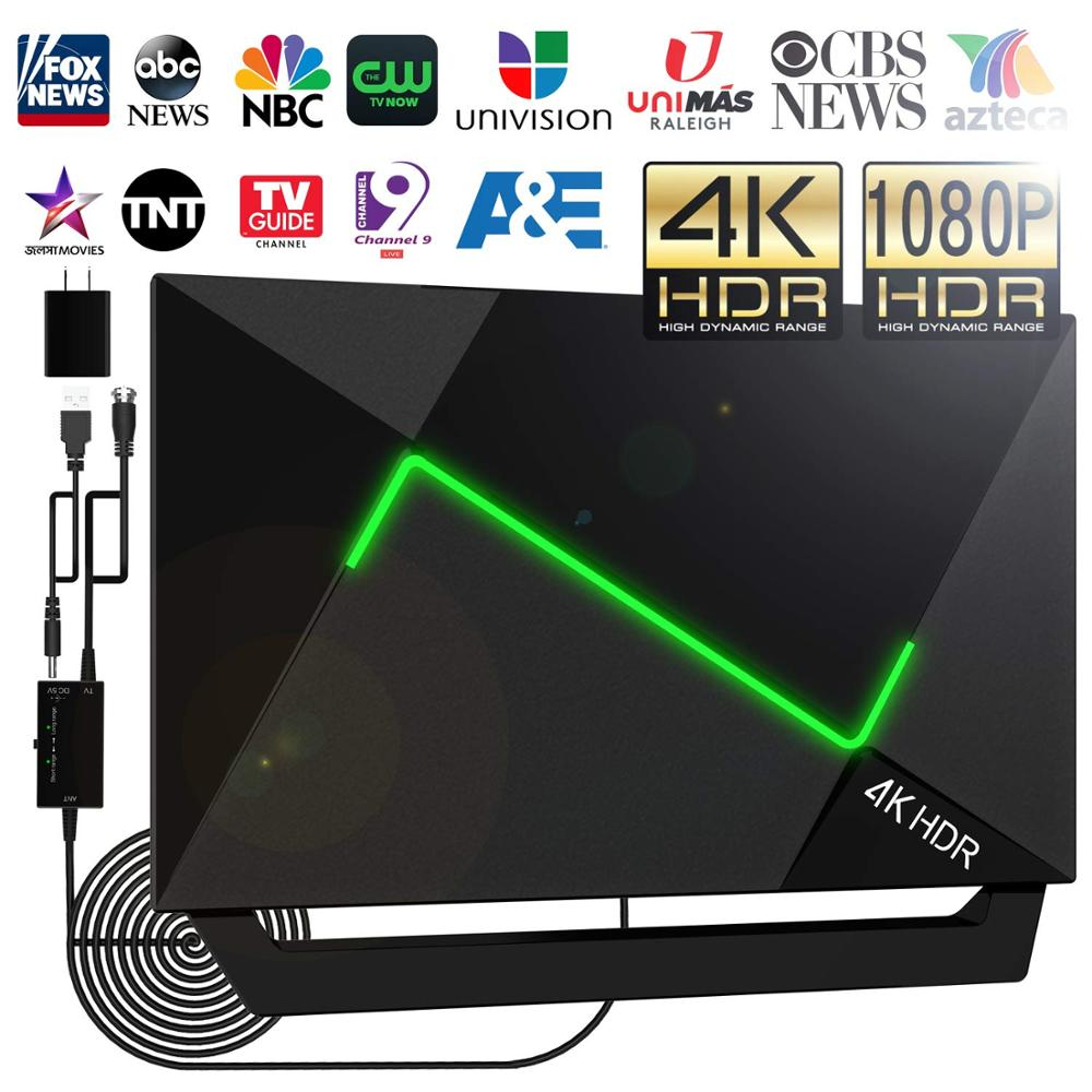 Ao ar livre dazzle luz plana antena de tv digital hdtv raio amplificador DVB-T2 isdb-tb claro antena receptor de sinal de antena hd