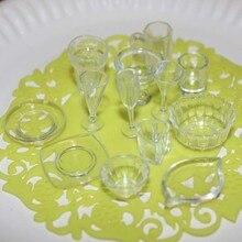 13 יח\חבילה צלחת כוס צלחת קערת כלי שולחן סט בית בובות מיניאטורות צעצוע בובת מזון מטבח סלון אביזרי 1:12 בקנה מידה