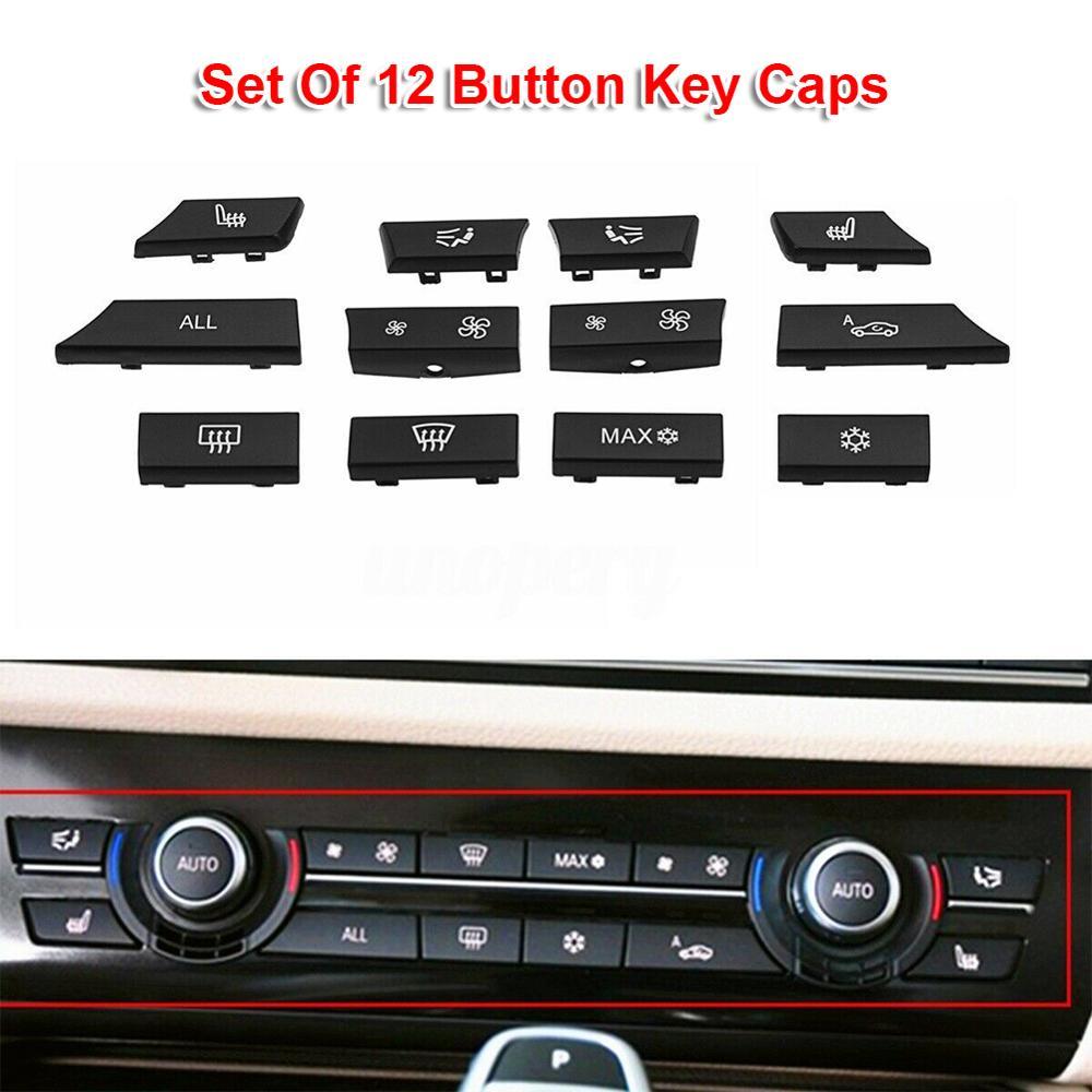Комплект для ремонта автомобильного кондиционера, 12 кнопок на панели, A/C, переключатель нагревателя для BMW 5, 6, 7, F10, F01, F12