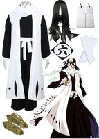 Fashionable Kuchiki Byakuya Cool Bleach Cosplay Costume Halloween