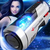 Leten Masturbator mit weiblichen sex moaning, Voll automatische teleskop Konstante temperatur Virtuelle haut für Männer Masturbation Tasse