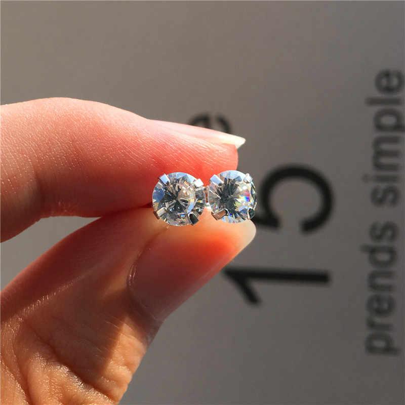 Минималистичные женские круглые серьги-гвоздики с кристаллами Модные Цвет серебристый, Золотой Цвет серьги для невесты блестящие серьги с надписью Love для Для женщин