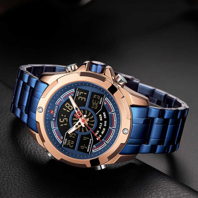 Nouvelle marque de luxe NAVIFORCE hommes montres mode étanche numérique Sport militaire Quartz montre-bracelet horloge hommes Relogio Masculino