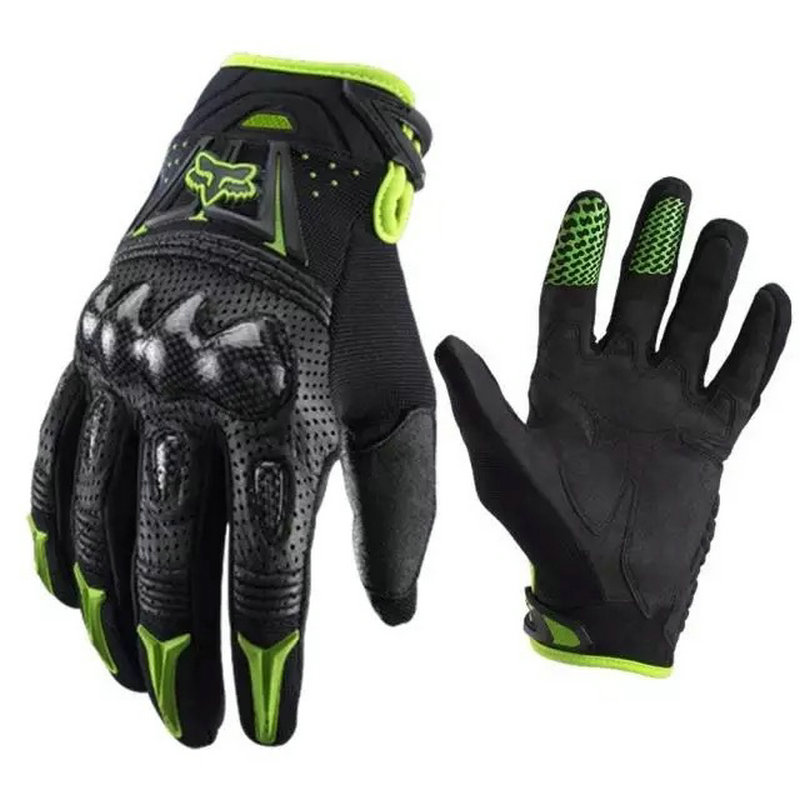 Carbon Fiber Hard Shell Motorcycle Gym Travel Gloves Motorcycle Outdoor Cross Country Riding Mittens