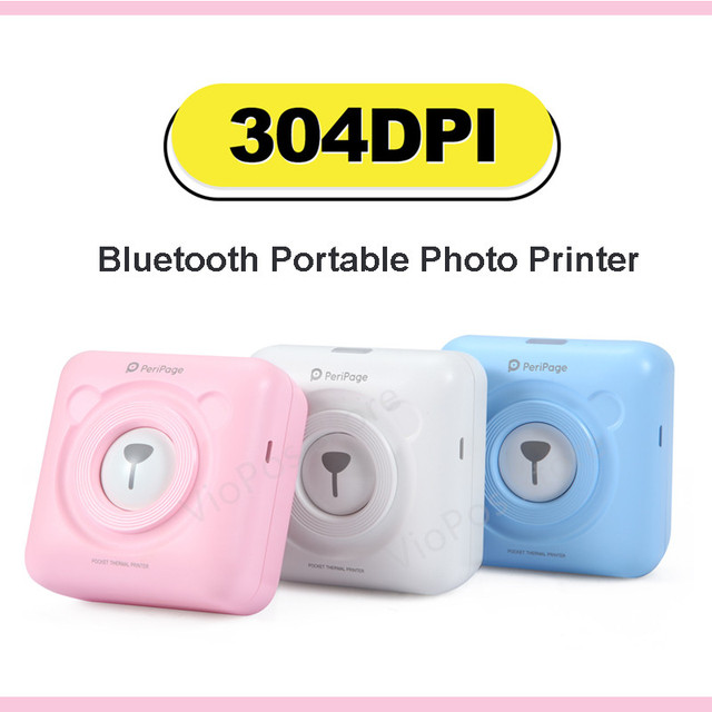 304dpi Bluetooth Portable Printer High Resolution Peripage Mini Photo Printer thermal Printer For Mobile Phone Android And IOS