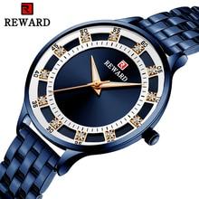 REWARD Brand Blue Analog Watch For Women Luxury Stainless St
