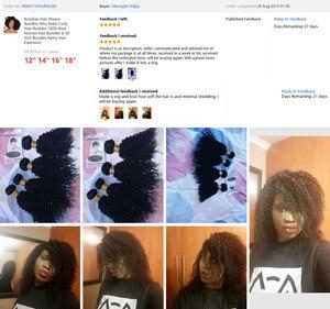 Image 5 - Tissage en lot Afro brésilien 100% naturel Remy, mèches de cheveux crépus bouclés, mèches de cheveux 8 28 pouces