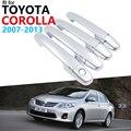 Дверные ручки  автомобильные аксессуары для Toyota Corolla E140 E150 2007 ~ 2013  Хромированная ручка  накладка  набор автомобильных наклеек 2012 2010 2009