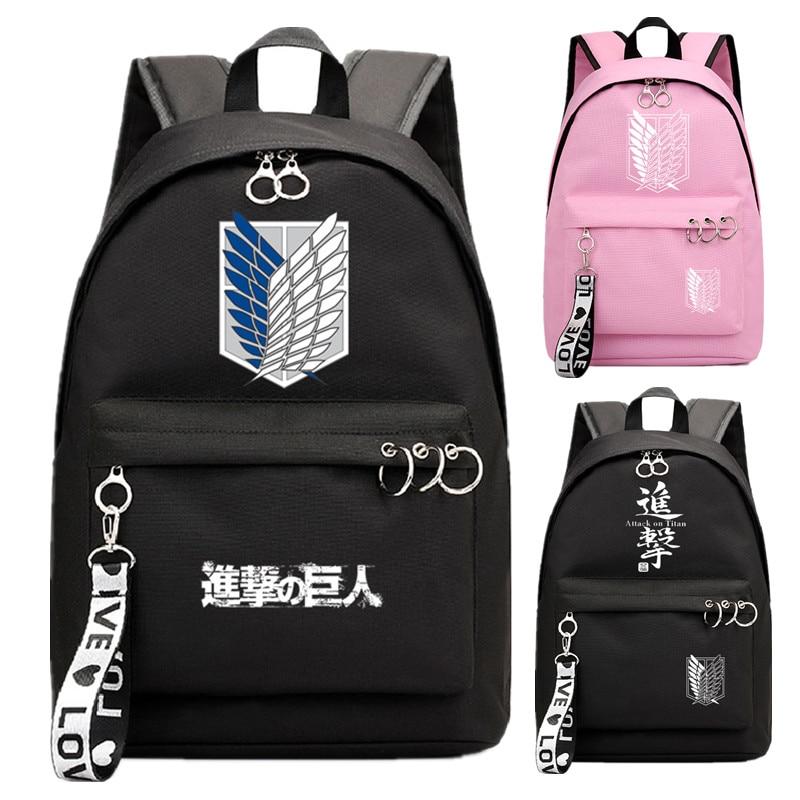 Circle Backpack Ribbon-Ring Laptop School Mochila Book-Bags Travel-Bag Group Pink Black