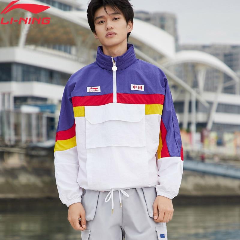 (Break Code)Li-Ning Unisex The Trend CHINA LI-NING Windbreakers Loose Fit Nylon LiNing Li Ning Sports Jackets AFDP157 MWF402