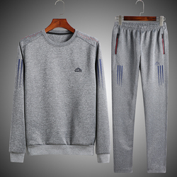 Fashion Men Set Long Sleeve Striped Hoodie Pant Male Tracksuit Two Pieces Outdoors Men's Gyms Set Casual Sportswear Suit 4XL 5XL