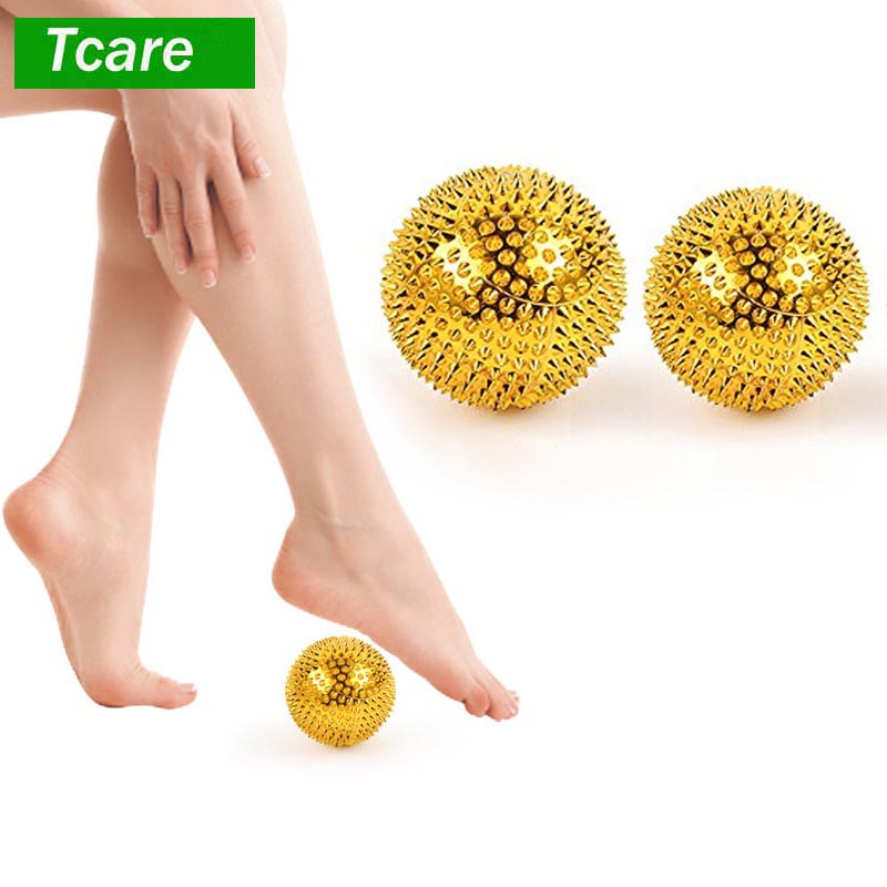 1Pair Men Women Pressure Relief Yoga Fitness Ball Magnetic Therapy Massager Magnet Hand Acupuncture Ball Acupoint Needle Massage