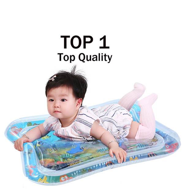 Baby Kids Water Play Mat Toys Inflatable thicken PVC infant Tummy Time Playmat Toddler Activity Play Center water mat for babies | Happy Baby Mama