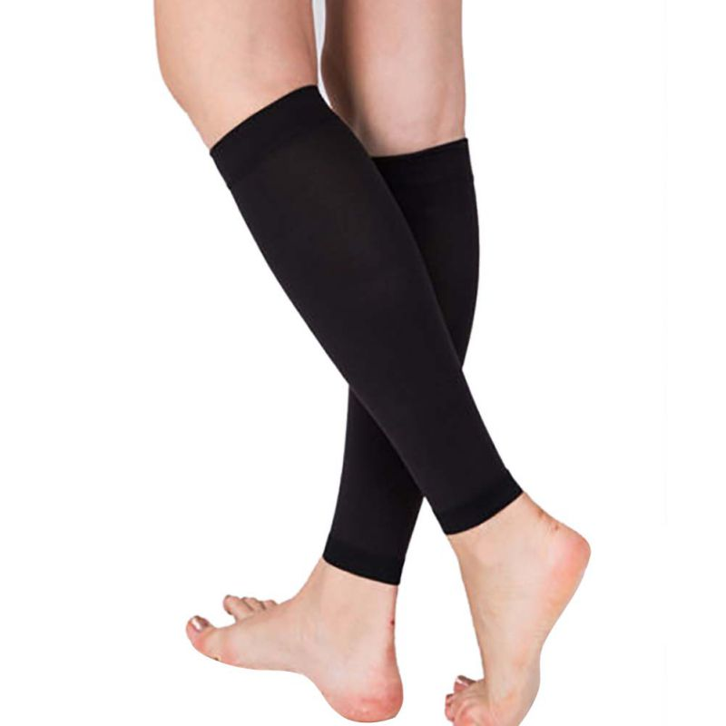 1 Pair Relieve Leg Calf Sleeve Varicose Vein Circulation Compression Elastic Stocking Leg Support For Womens 20-30 Mmhg