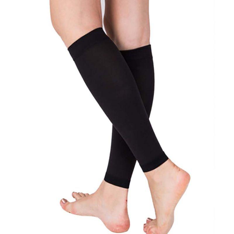 1 Pair Relieve Leg Calf Sleeve Varicose Vein Circulation Compression Elastic Stocking Leg Support For Womens 20-30 mmhg